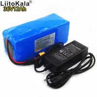 LiitoKala 42 36 v 12ah bateria de iões de lítio 18650 V 12000 mAh 10s4p XT60 bms bicicleta elétrica de grande capacidade interface
