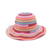 Fashion Women Sun Hat for Girl Summer Patchwork Bucket Hats Cotton Linen Fisherman Spring Autumn Lady Cap