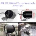 2 unids motocicleta 3000lmw faro 4 * u2 30 w led moto accesorios de reacondicionamiento de la motocicleta focos lámpara auxiliar super brillante