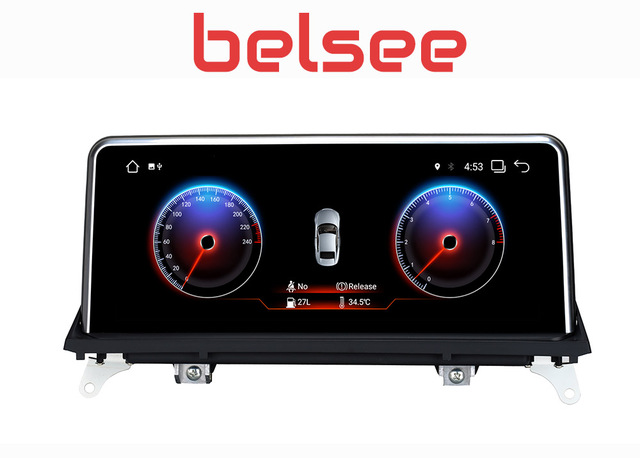 """Belsee PX6 10,25 """"Android 8,1 оперативная память 2 ГБ Автомобильный мультимедийный gps навигации Системы радио авто стерео для BMW X5 F15 E70 X6 E71 2007-2017"""