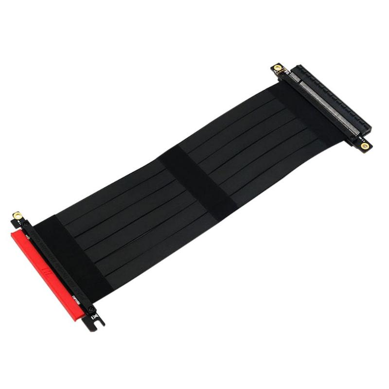ALLOYSEED PCI Express 16x Cable Flexible tarjeta vertical extensión de adaptador de puerto de tarjeta de gráficos de video extender Cable para 1U 2U chasis
