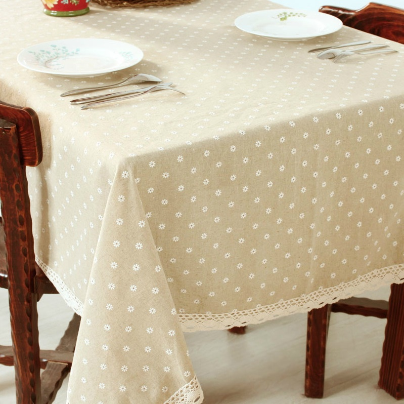 HBZ21 Flower Tablecloth Daisy Cover Cloth Linen Natural Funky Pastoral  Floral Fabric Rectangle Squre Beige Napkin Chrysanthemum In Tablecloths  From Home ...