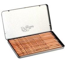 Набор из 12(H-9B) Марко Раффин железная коробка карандаши для рисования по дереву профессиональный художественный карандаш школьные принадлежности Matita