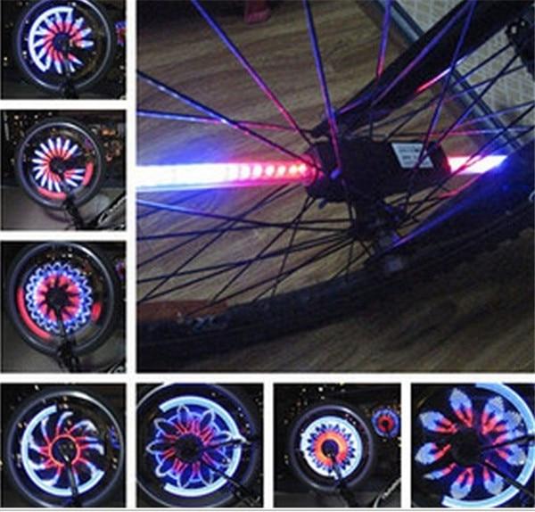 2015 hete 32 led lamp vintage fietsen fiets fietswiel licht voor de weg fiets spaken verlichting