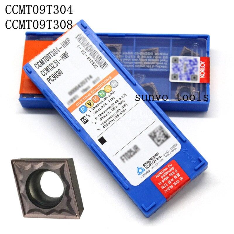 50PCS CCMT09T304/CCMT09T308-HMP PC9030 NC3030 KORLOY CNC Turning Insert milling inserts Lathe Holder SCLCR1212H09 S12M-SCLCR09