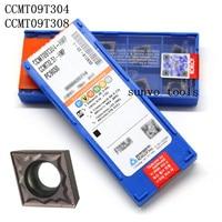 50PCS CCMT09T304/CCMT09T308 HMP PC9030 NC3030 KORLOY CNC Turning Insert milling inserts Lathe Holder SCLCR1212H09 S12M SCLCR09