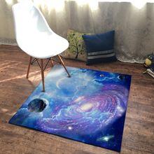 3d квадратный коврик с изображением звездного неба голубого