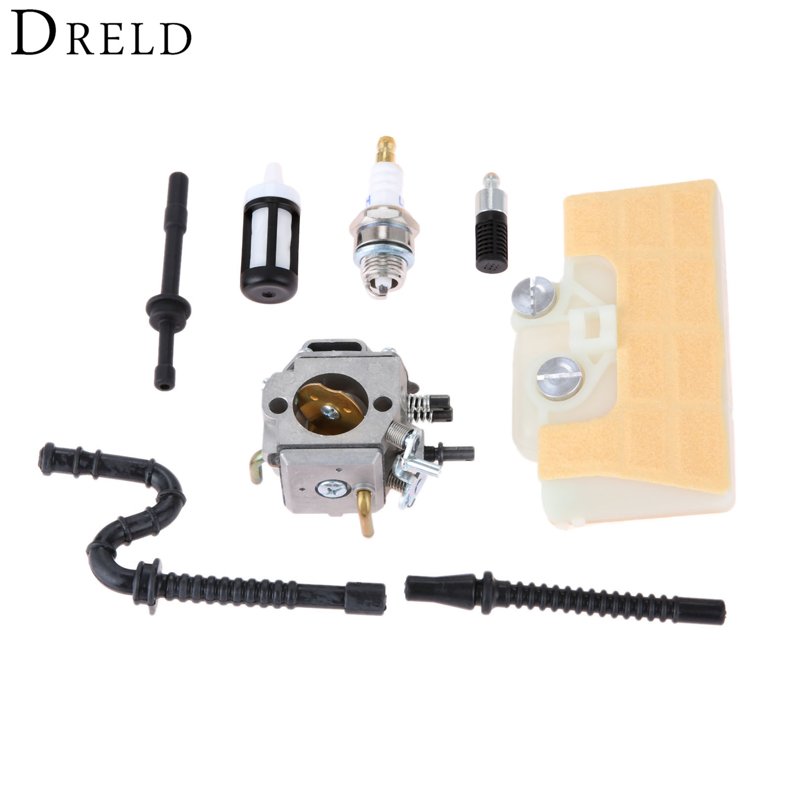 DRELD Carburetor Carb with Air Filter Fuel Line Spark Plug Repower Kit for STIHL MS290 MS310 MS390 029 039 Chainsaw Garden Tools carburetor rebuild repair carb kit fits for stihl ms361 ms290 ms390 ms440 ms460 chainsaw carb kit walbro k10 hd