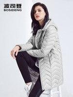 Bosideng duck down jacket women's long section new ladies fashion autumn and winter hooded windbreaker B80131028