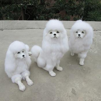 simulation poodle dog hard model,polyethylene& furs white large poodle handicraft prop,Ornament Decoration Craft gift s0713