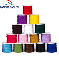 CAMDOE DANLEN 1mm X 95M Nylon nudo chino anudado Kumihimo macramé cordón trenzado DIY cuentas Shambala Hilo línea
