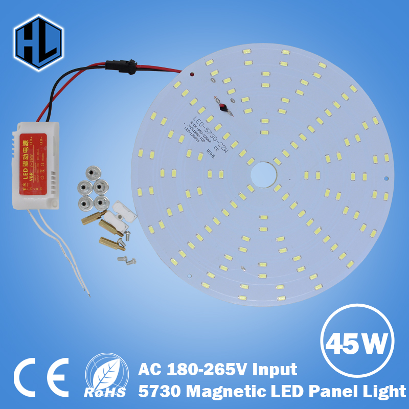 100pcs LED Panel Lamp 10W 15W 18W 20W 25W 35W 45W Square / Round 5730 Magnetic LED Ceiling Panel Light Plate Aluminium Board 36w round 5730 smd led chip light bulb ceiling lamp diy aluminum plate light round panel no dark areas board ac110v 240v