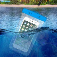 KEYION 5 8 Universal Waterproof Mobile Phone Bag Case Clear PVC Sealed Underwater Cell Smart Phone