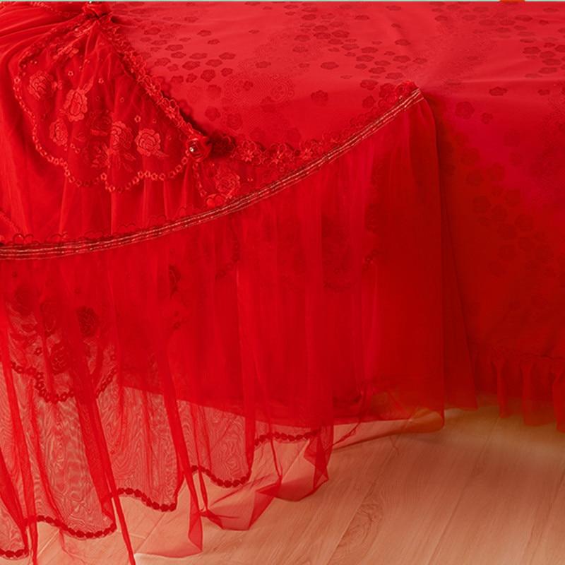 Червена сватба жакард дантела - Домашен текстил - Снимка 2