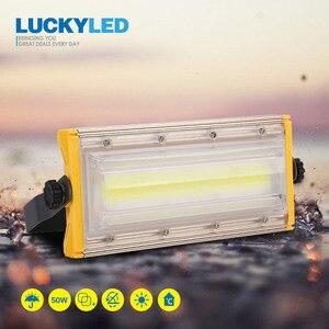 Image 1 - LUCKYLED Led Flood Light 50W 220V 240V Waterproof Ip65 Floodlights Led Reflector Outdoor Led Spotlight Garden Lighting