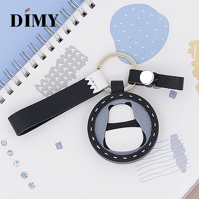 DIMY Handmade Original Custom Panda Charm Animals Pendant Bag Charms Leather Epsom Palmprint Cattle Hide Simple AccessoriesDIMY Handmade Original Custom Panda Charm Animals Pendant Bag Charms Leather Epsom Palmprint Cattle Hide Simple Accessories