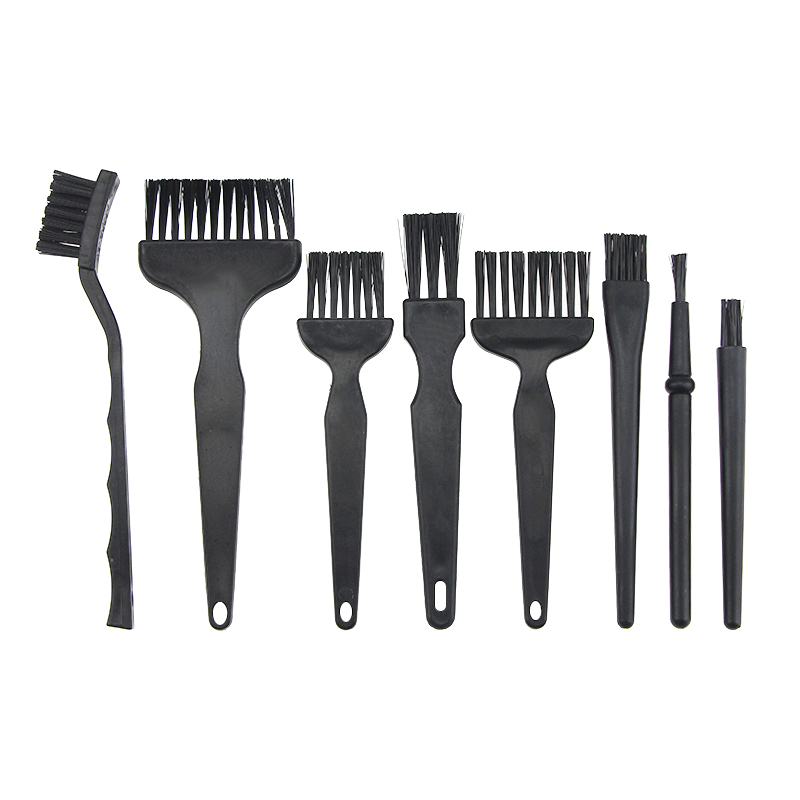 8 Pcs Clean Tools Mini Wire Brush Set Steel Brass Nylon Cleaning Polishing Detail Metal Rust