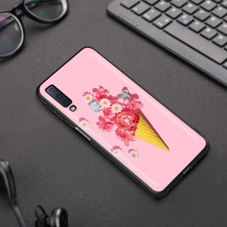 Lavaza Lavender Ungu Bunga untuk Samsung Galaxy J6 A9 A8 A7 A70 A6 A5 A50 A40 A30 A3 A10 2018