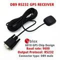 Aplicaciones de control Industrial RS232 salida de protocolo receptor GPS UBLOX 6010 chip GPS diseño conector DB9 STOTON NMEA0183