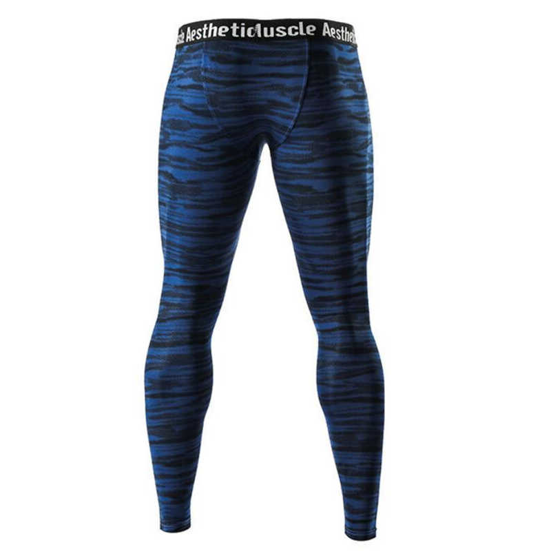 Mannen Compressie Strakke Leggings Running Sport Mannelijke Gym Fitness Jogging Broek Sneldrogende Broek Workout Training Yoga Bodems