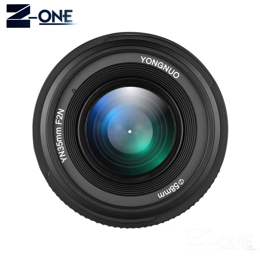 <font><b>YONGNUO</b></font> YN <font><b>35mm</b></font> F2 Camera Lens for <font><b>Nikon</b></font> Canon EOS YN35MM Lenses AF MF Wide Angle Lens for 600D 60D 5DII 5D 500D 400D 650D 6 image