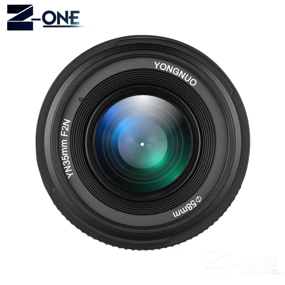 YONGNUO YN 35 мм F2 объектив камеры для Nikon Canon EOS YN35MM объективы AF MF широкоугольный объектив для 600D 60D 5DII 5D 500D 400D 650D 6