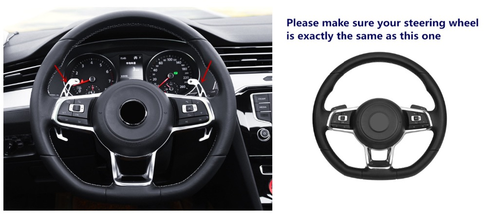 Steering Wheel Paddle Shifter DSG Extensions For VW Volkswagen Polo GTI 1.4T 2012-2018/Golf 7 Mk7 GTI Rline 2.0T 2014-2018