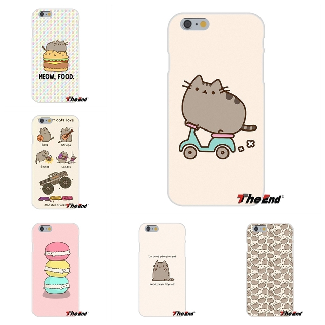 buy online 43a5c f8524 US $0.99 |Cute Pusheen The Cat Gifs Silicone Phone Case Cover For iPhone X  4 4S 5 5S 5C SE 6 6S 7 8 Plus Galaxy Grand Core Prime Alpha-in Half-wrapped  ...
