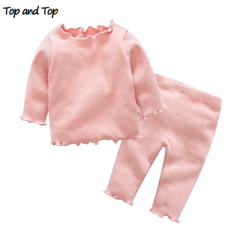 T-Shirt Baby-Girl Long-Sleeve Newborn Cotton Toddler Top And Casual Pants