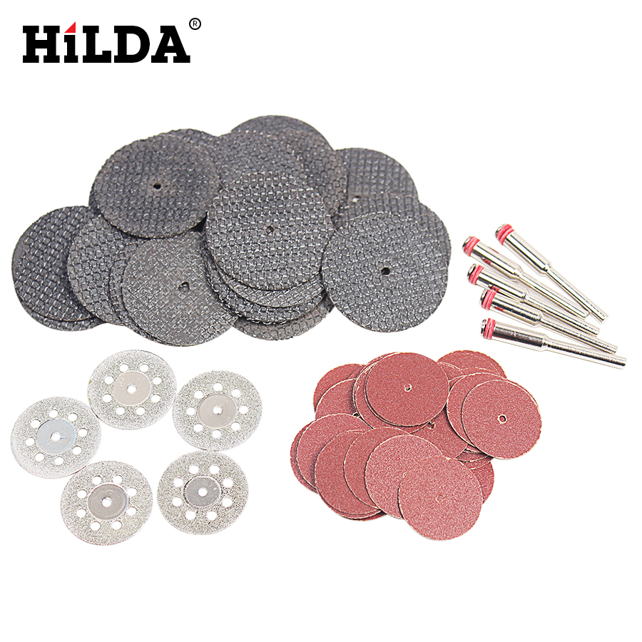 HILDA Diamond Cutting Disc Sanding Grinding Wheel Circular Saw Blade Woodworking For Dremel Mini Drill Rotary Tool Accessories