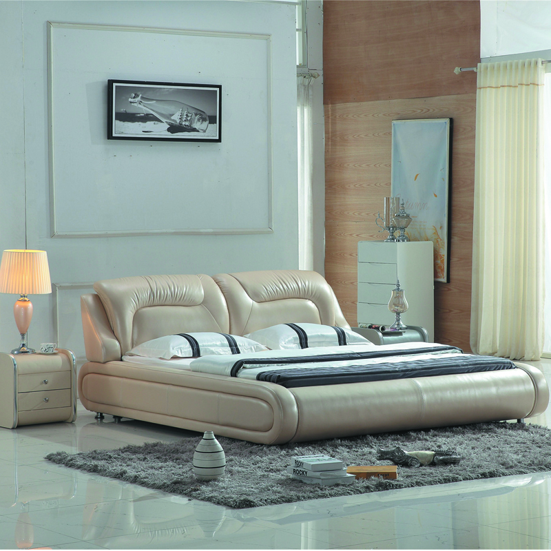US $676.6 |Modern Italian style leather bed set-in Bedroom Sets from  Furniture on Aliexpress.com | Alibaba Group