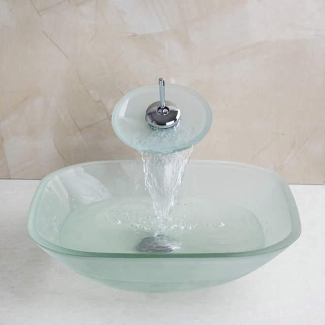Online Shop Kemaidi Gefrostet Quadrat Schussel Waschbecken Decor