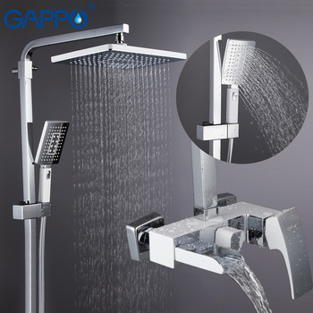 цены GAPPO shower System bathroom massage showers wall mounted shower heads chrome polished rainfall bath mixer rain shower sets