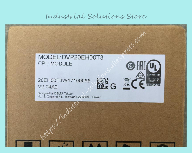 New Original EH2/EH3 Series PLC DVP20EH00T3 DI 12 DO 8 Transistor output 100-240VAC in box 20 points dvp32ec00t3 new original delta plc ec3 series 100 240vac 16di 16do transistor output