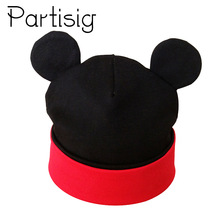 Partisig Brand Baby Hat Bomull Øret Hue For Girls Fashion Cartoon Boys Caps Vår Hatter Caps Caps