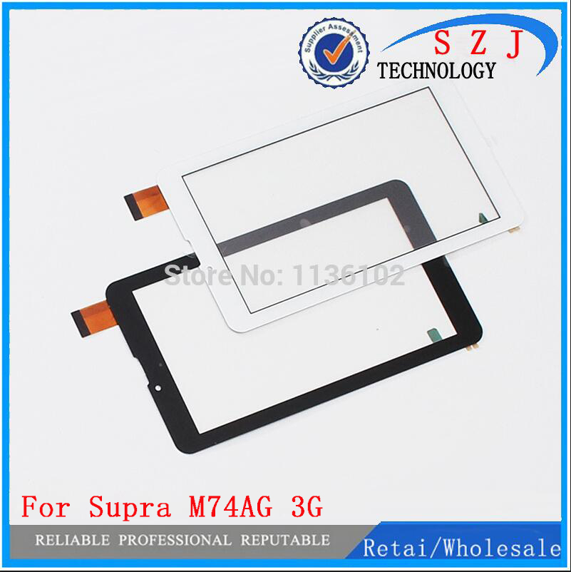 New 7'' inch Protective film+touch screen For Supra M74AG 3G Tablet Touch panel Digitizer Glass Sensor Replacement Free Shipping black new for 9 inch supra m929 tablet touch screen panel digitizer glass sensor zhc k90 093a replacement free shipping