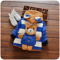 Kids Winter Jacket Character Bear Hooded Fashion Cotton Warm Boys Winter Jacket Manteau Fille Hiver Outerwear & Coats for 1-3T
