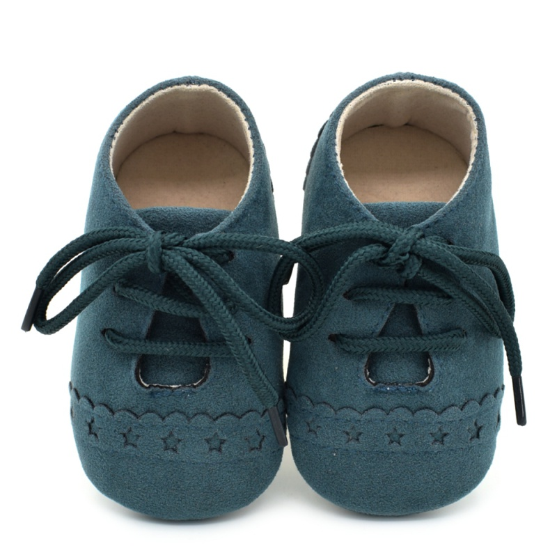 Infant Baby Girls Boys Spring Lace Up Soft Leather Shoes Toddler Sneaker Non-slip Shoes Casual Prewalker Baby Shoes 17
