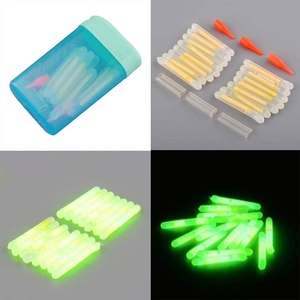 Fluorescent Light Sound: 15Pcs 4.5x36mm Fishing Fluorescent Lightstick Light Night