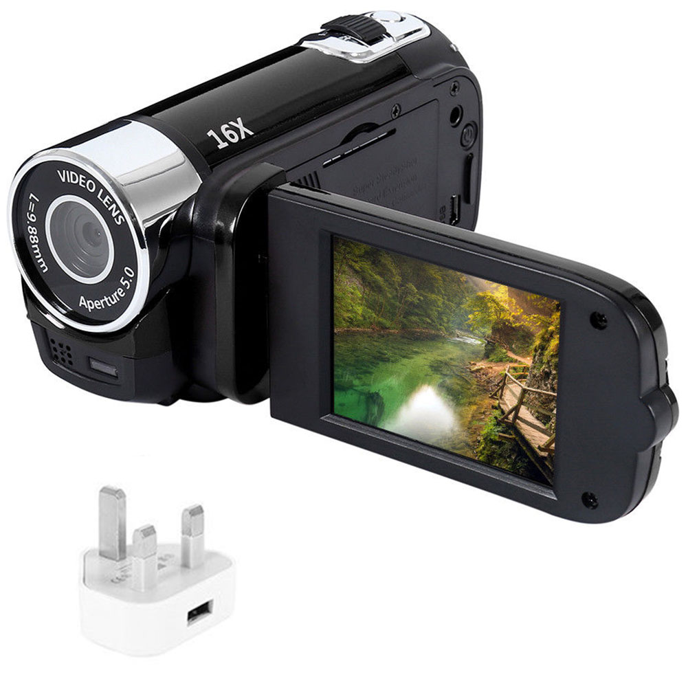 Anti-shake led luz câmera digital 1080 hd câmera de gravação de vídeo profissional cronometrado selfie presentes alta definição visão noturna