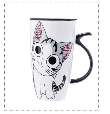 Creative Cat Ceramic Mug Coffee Tea Cup