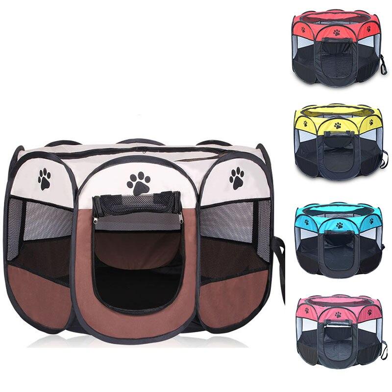 Valla octogonal para mascotas al aire libre, tienda plegable portátil para mascotas, jaula para perros, tienda para perro y gato, corralito para cachorros, sofá de Caseta de perros, suministros Brújula GPS cerca de modo para Mini ala fija FPV RC Micr
