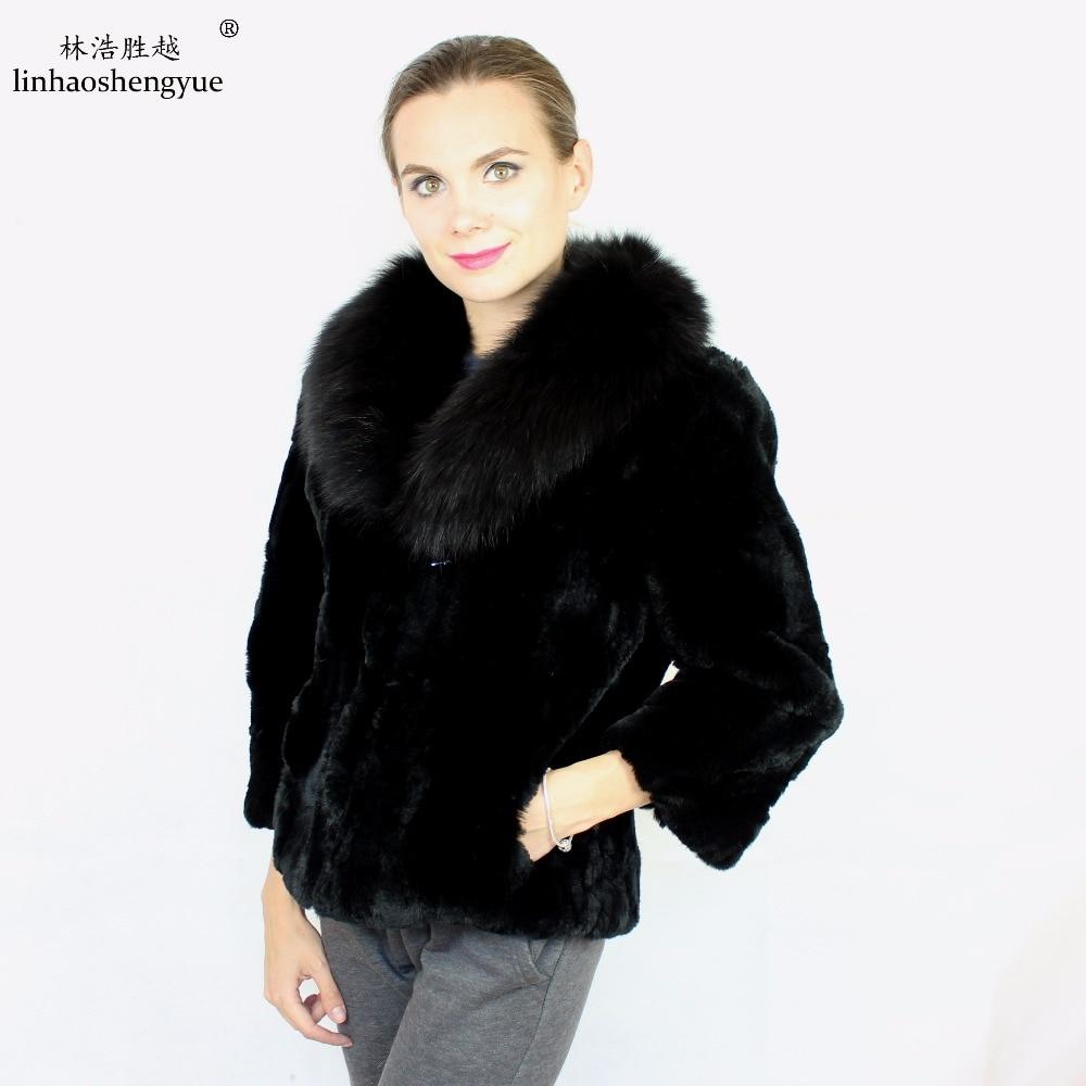 Manteau Femmes Col Naturel Linhaoshengyue blue De Fourrure white Renard Beige red Livraison black Lapin Gratuite 100 Mode Rex Avec D'hiver Chaud rYw5qz0w