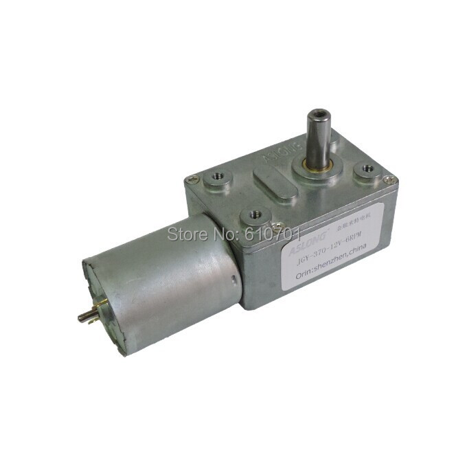 6V 12V 24V Rectangle Worm Gear Box 2 Terminal Electric DC Geared Motor JGY-370 375/237/160/101/40/25/18/12/10/6/4/3/2/1RPM 8mm dia shaft rectangle permanent planet gear box motor 14rpm dc 12v