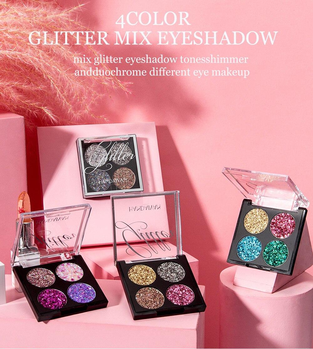 profissional compõem paleta cosméticos para olho feminino