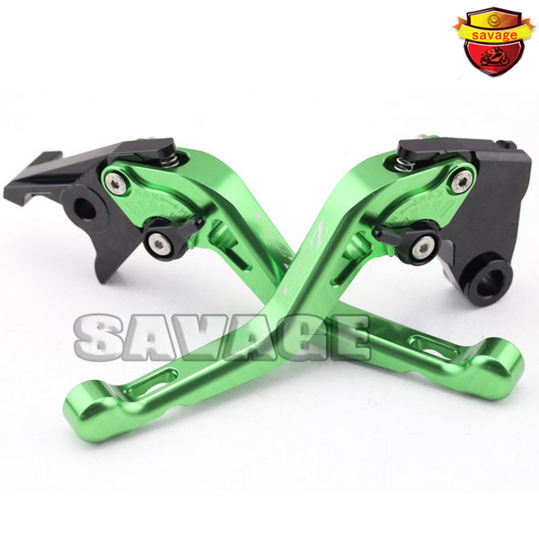 ФОТО For KAWASAKI Z750 04-06, Z750S 06-08 Green Motorcycle Accessories CNC Billet Aluminum Short Brake Clutch Levers logo Z750