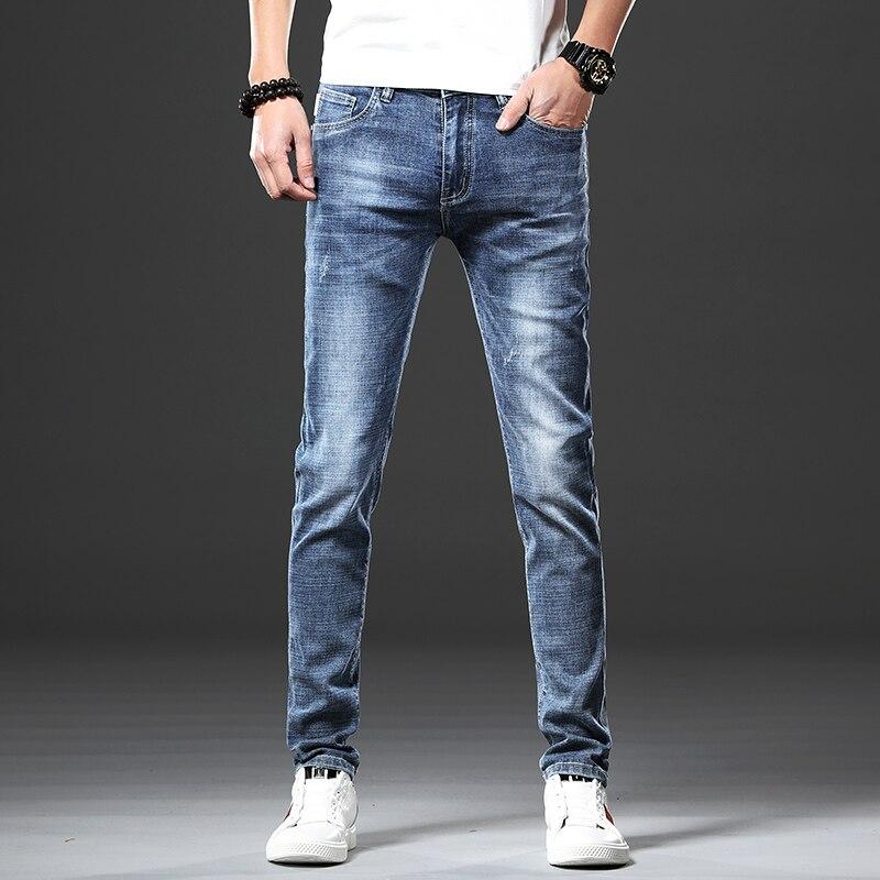 0710e122207 B.C.FIGURE новое поступление высокое качество повседневная стрейч тонкий  карандаш брюки узкие джинсы