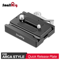 SmallRig Quick Release Clamp and Plate ( for Arca Swiss ) With 1/4 3/8 Thread Holes for tripod Head Attach 2144