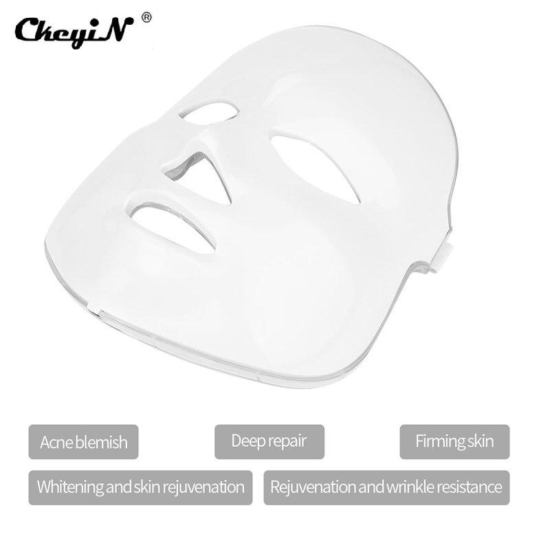 7 couleur Led masque de beauté masque Led rajeunissement de la peau élimination des rides Photon thérapie par la lumière Led soins de la peau du visage masque de beauté SPA P46