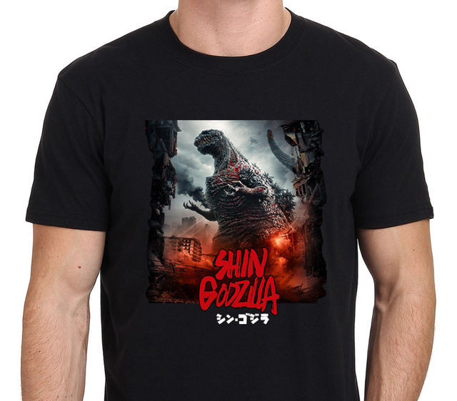 53e682e0 2018 Short Sleeve Cotton T Shirts Man Clothing Shin Godzilla Resurgence  Japan Movie Monster Men's T